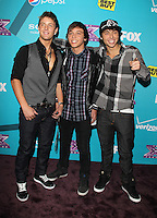 LOS ANGELES, CA - NOVEMBER 05: Emblem3 at the FOX's 'The X Factor' Finalists Party at The Bazaar at the SLS Hotel Beverly Hills on November 5, 2012 in Los Angeles, California. Credit: mpi26/MediaPunch Inc. .<br />