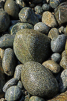 A view of  beautifully tumbled  stone by nature on the rocky beach of San Pancho Mexico.
