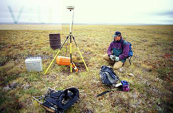 Leica GPS and gravity meter survey, above the Arctic Circle, Seward Peninsula, Alaska, USA