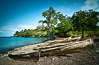 Sao Tomé Island: Seascapes, landscapes, beaches, ocean, coastline
