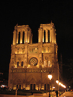 Notre Dame at Night - Paris