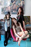 Venieri Lydia and daughters portrait