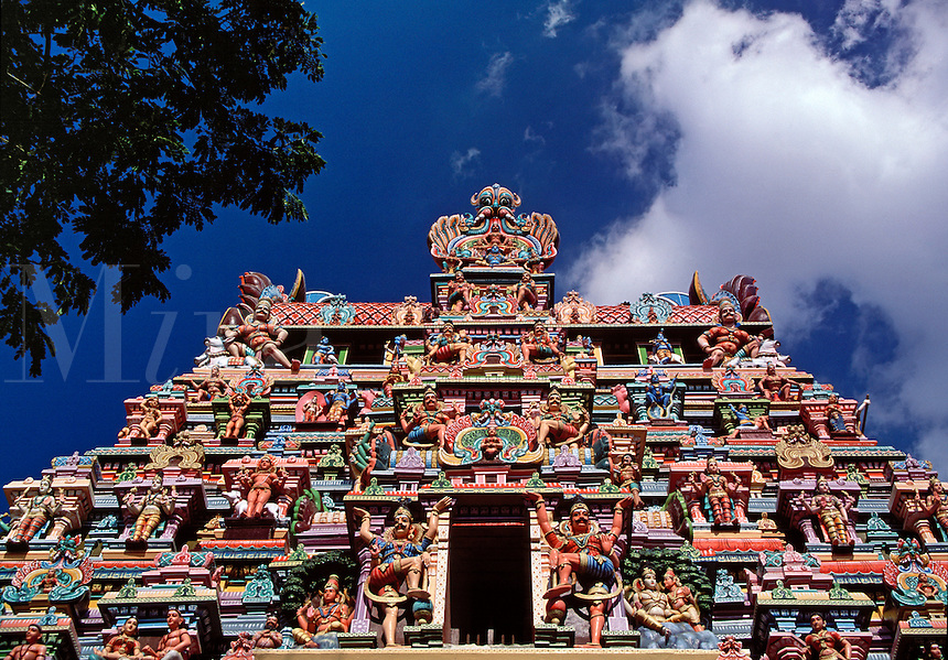 Colorful Gopuram Shree Meenakshi Hindu Temple Madurai India.