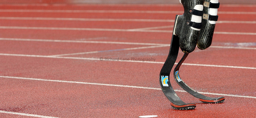 Photo: Paul Thomas..VISA Paralympic World Cup 2007. Athletics. 13/05/2007...Oscar Pistorius of South Africa.