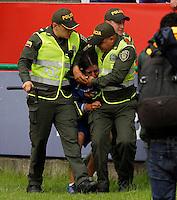 MANIZALES -COLOMBIA-3-ABRIL-2016.Acción de juego entre el Once Caldas y Millonarios .Liga Aguila jugado en el estadio Palogrande de la ciudad de Manizales Photo: VizzorImage/ Santiago Osorio / Contribuidor