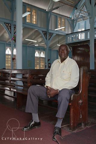 Senior member of the Queenstown Moravian church, Guyana