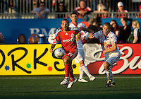 13 June2009: New York Red Bulls midfielder Seth Stammler #6 and Toronto FC midfielder Dewayne DeRosario #14 in action during MLS action at BMO Field in Toronto, in a game between the New York Red Bulls and Toronto FC. Toronto FC won 2-1..