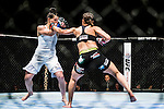Elizabeth Philips of USA vs Milana Dudieva of Russia during their women's bantamweight bout fight as part of the UFC Fight Night Macao on August 23, 2014 at the Venetian in Macao, China. Photo by Victor Fraile / Power Sport Images