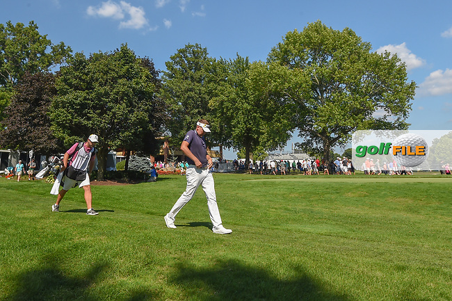 Ian Poulter (GBR) heads down 10 during 3rd round of the World Golf Championships - Bridgestone Invitational, at the Firestone Country Club, Akron, Ohio. 8/4/2018.<br /> Picture: Golffile | Ken Murray<br /> <br /> <br /> All photo usage must carry mandatory copyright credit (© Golffile | Ken Murray)
