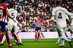 Antoine Griezmann of Atletico de Madrid in action during their La Liga  2018-19 match between Real Madrid CF and Atletico de Madrid at Santiago Bernabeu on September 29 2018 in Madrid, Spain. Photo by Diego Souto / Power Sport Images