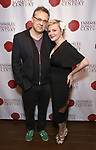 "Angelica Page and husband Dmitry Lipkin attends the Opening Night Party for ""Because I Could Not Stop: An Encounter with Emily Dickinson"" at the West Bank Cafe on September 27, 2018 in New York City."