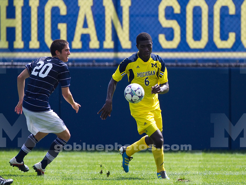 The University of Michigan Men's soccer team played Georgetown to a 2-2 tie at the U-M Soccer Complex in Ann Arbor, Mich., on September 11, 2011.