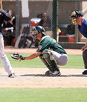 Ryan Ortiz, Oakland Athletics 2010 minor league spring training..Photo by:  Bill Mitchell/Four Seam Images.