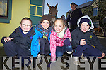 Sean Sweeney, Darragh Reidy and Katie Reidy with Cathal Sweeney from Kilmorna pictured at the annual horse fair held last Saturday in Athea.