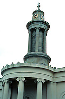 Sir John Soane: All Saints, Camden Town, London. Detail of tower. Photo  '90.