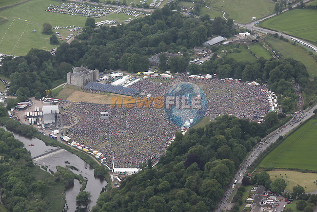 Aerial pictures of the Oasis slance castle concert..Picture: Fran Caffrey/Newsfile.ie