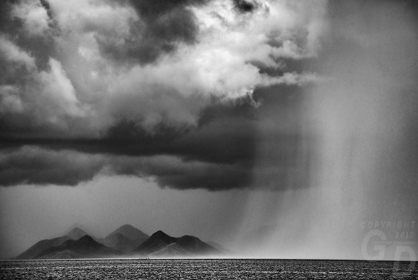 Dramatic Rain Storm Palawan, Philippines