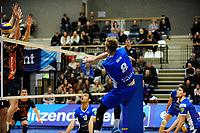 GRONINGEN - Volleybal, Lycurgus - Orion , Eredivisie, seizoen 2018-2019, 13-01-2019, smash Lycurgus speler Chris Voth