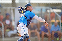 Alek Boychuk (12) during the WWBA World Championship at the Roger Dean Complex on October 10, 2019 in Jupiter, Florida.  Alek Boychuk attends Mill Creek High School in Buford, GA and is committed to South Carolina.  (Mike Janes/Four Seam Images)