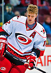 21 December 2008: Carolina Hurricanes' center Eric Staal warms up prior to a game against the Montreal Canadiens at the Bell Centre in Montreal, Quebec, Canada. The Hurricanes defeated the Canadiens 3-2 in overtime. ***** Editorial Sales Only ***** Mandatory Photo Credit: Ed Wolfstein Photo