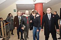 PESCARA (PE)27/01/2013: ELEZIONI 2013 - OSCAR GIANNINO, LEADER DEL PARTITO FERMARE IL DECLINO, A PESCARA.  FOTO ADAMO DI LORETO