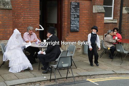 Charles Dickens Festival.  Rochester Kent UK. 2012.