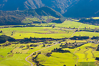 Beautiful Green Countryside in the Golden Bay Region of South Island, New Zealand