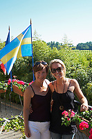 two swedish visitors chateau villars fronsac bordeaux france