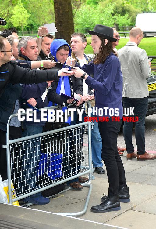 James Bay  at the Ivor Novello Awards at the Grosvenor House Hotel, Park Lane, London on May 19th 2016