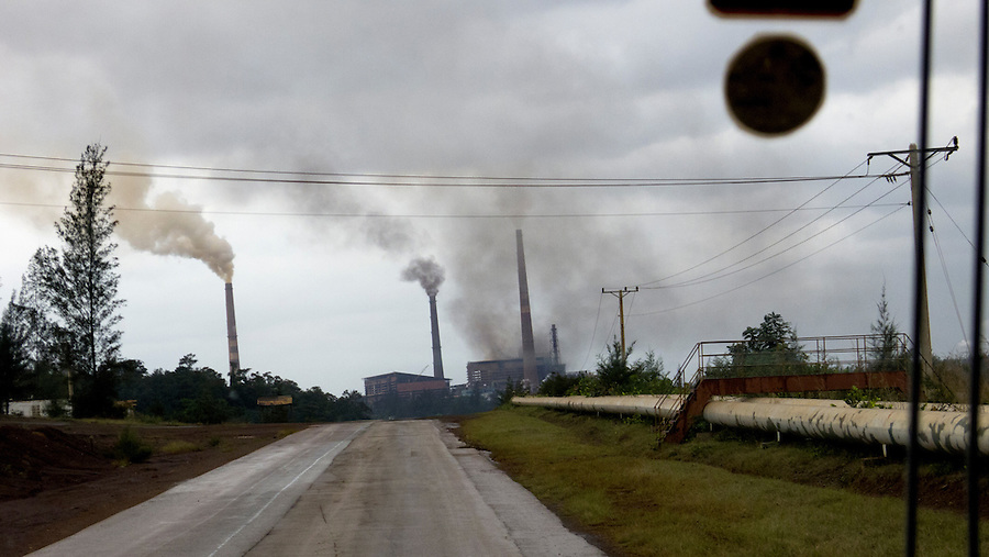 Moa, a highly polluted industrial zone in Cuba.