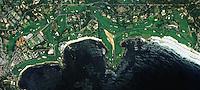 aerial photograph Pebble Beach Golf Links, California