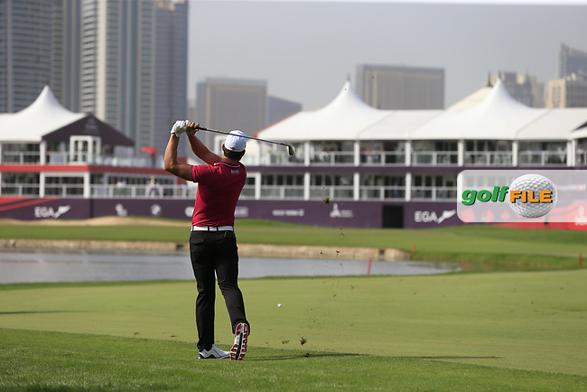 Haydn Porteous (RSA) on the 9th during Round 2 of the Omega Dubai Desert Classic, Emirates Golf Club, Dubai,  United Arab Emirates. 25/01/2019<br /> Picture: Golffile | Thos Caffrey<br /> <br /> <br /> All photo usage must carry mandatory copyright credit (© Golffile | Thos Caffrey)