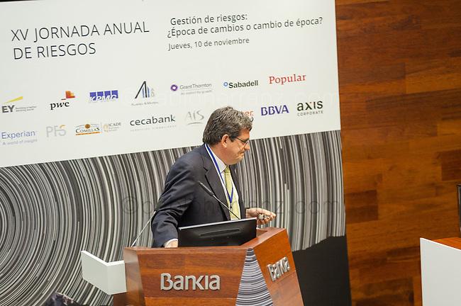 XV JORNADA ANUAL DE RIESGOS del CGRE en el Auditorio BANKIA, Paseo de la Castellana 189, Madrid.