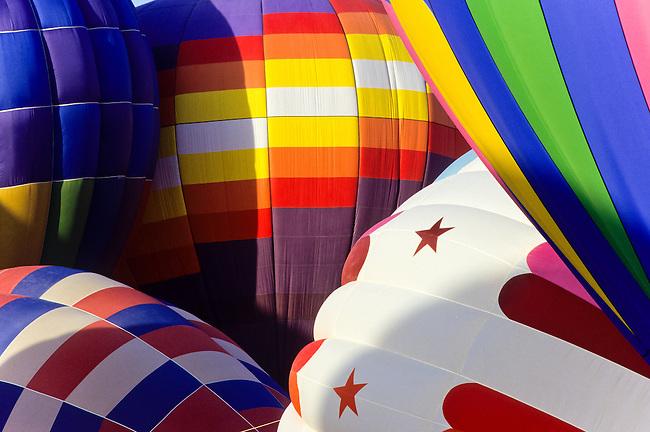 the Albuquerque balloon festival in New Mexico, USA