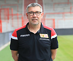 06.07.2019, Stadion an der Wuhlheide, Berlin, GER, 2.FBL, 1.FC UNION BERLIN , Mannschaftsfoto, Portraits, <br /> DFL  regulations prohibit any use of photographs as image sequences and/or quasi-video<br /> im Bild Cheftrainer (Head Coach) Urs Fischer(1.FC Union Berlin)<br /> <br /> <br />      <br /> Foto © nordphoto / Engler