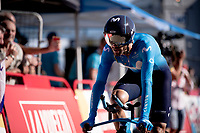 Alejandro Valverde (ESP/Movistar) rolling in at the finish<br /> <br /> stage 10 (ITT): Jurançon to Pau (36.2km > in FRANCE)<br /> La Vuelta 2019<br /> <br /> ©kramon