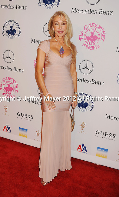BEVERLY HILLS, CA - OCTOBER 20: Linda Thompson arrives at the 26th Anniversary Carousel Of Hope Ball presented by Mercedes-Benz at The Beverly Hilton Hotel on October 20, 2012 in Beverly Hills, California.
