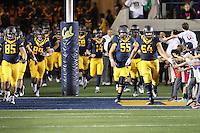 BERKELEY, CA - October 21, 2016: Cal Bears football team vs. the Oregon Ducks at California Memorial Stadium. Final score, Cal Bears 52, Oregon Ducks 49.