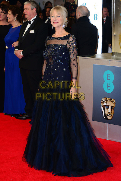 LONDON, ENGLAND - FEBRUARY 16:  Helen Mirren attends EE British Academy Film Awards (BAFTAs) at Royal Opera House, Covent Garden, on February 16, 2014, in London, England.  <br /> CAP/JOR<br /> &copy;Nils Jorgensen/Capital Pictures