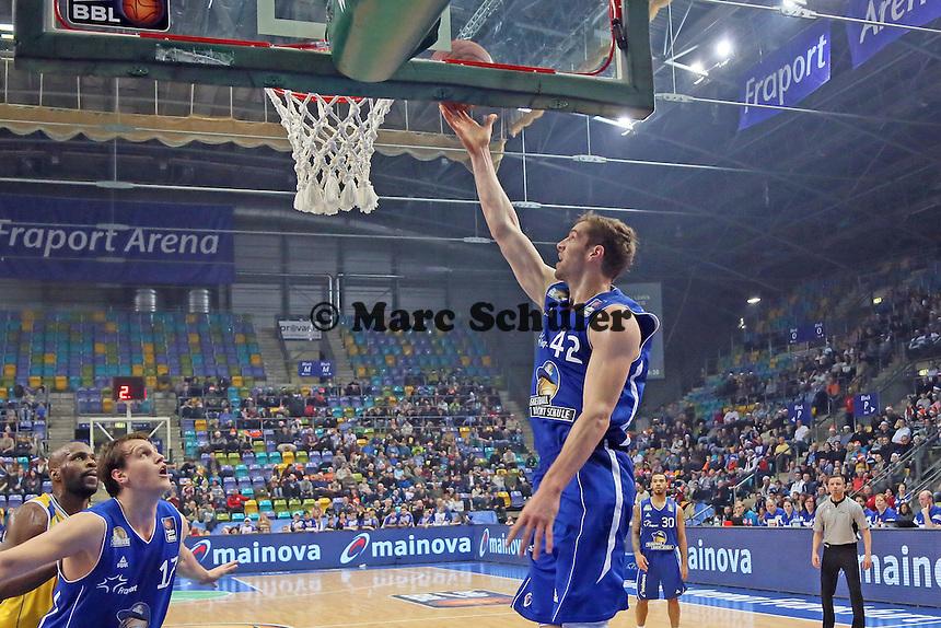 Aaron Doornekamp (Skyliners) erzielt Punkte - Fraport Skyliners vs. Loewen Braunschweig, Fraport Arena Frankfurt