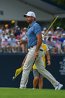 Jason Day (AUS) after sinking his putt on 9 during 4th round of the 100th PGA Championship at Bellerive Country Club, St. Louis, Missouri. 8/12/2018.<br /> Picture: Golffile | Ken Murray<br /> <br /> All photo usage must carry mandatory copyright credit (&copy; Golffile | Ken Murray)