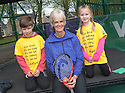 Judy Murray after her question and answer session to launch Free Tennis Lessons at Zetland Park.