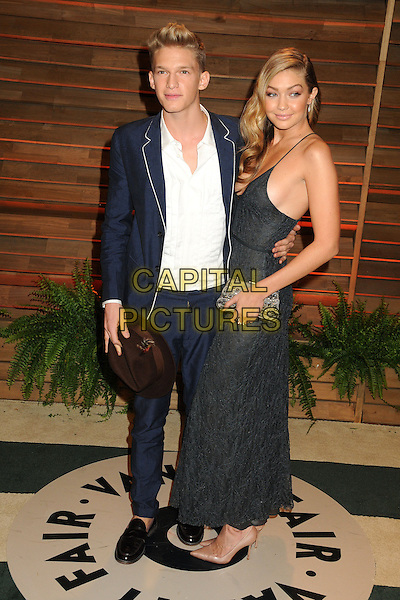 02 March 2014 - West Hollywood, California - Cody Simpson, GiGi Hadid. 2014 Vanity Fair Oscar Party following the 86th Academy Awards held at Sunset Plaza.  <br /> CAP/ADM/BP<br /> &copy;Byron Purvis/AdMedia/Capital Pictures