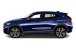 Car driver side profile view of a 2018 BMW X2 M Sport X 5 Door SUV