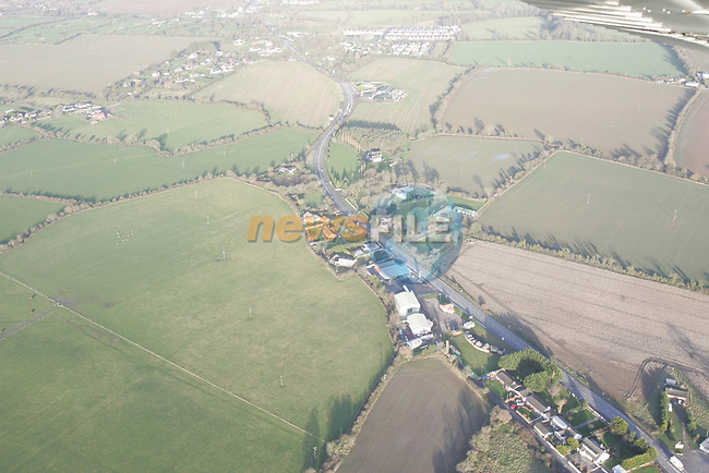 Aerial of Mosney Area N1 Main Road.Photo: Fran Caffrey/ Newsfile.