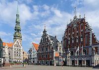 Rathausplatz in Riga, Lettland, Europa, Unesco-Weltkulturerbe