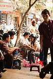 VIETNAM, Hanoi, friends socialize and drink coffee at a local coffee shop, Cafe Nang in the Old quarter
