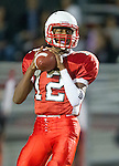 Lawndale, CA 09/26/14 - Chris Murray (Lawndale #12) in action during the Palos Verdes Peninsula vs Lawndale CIF Varsity football game at Lawndale High School.  Lawndale defeated Peninsula 42-21