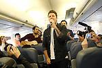 Dani Martin durante la presentacion de su Gira 2014 a bordo de un avion de Air Europa.(ALTERPHOTOS/Acero)