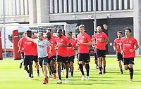 Eintracht läuft sich warm - 05.09.2018: Eintracht Frankfurt Training, Commerzbank Arena, DISCLAIMER: DFL regulations prohibit any use of photographs as image sequences and/or quasi-video.